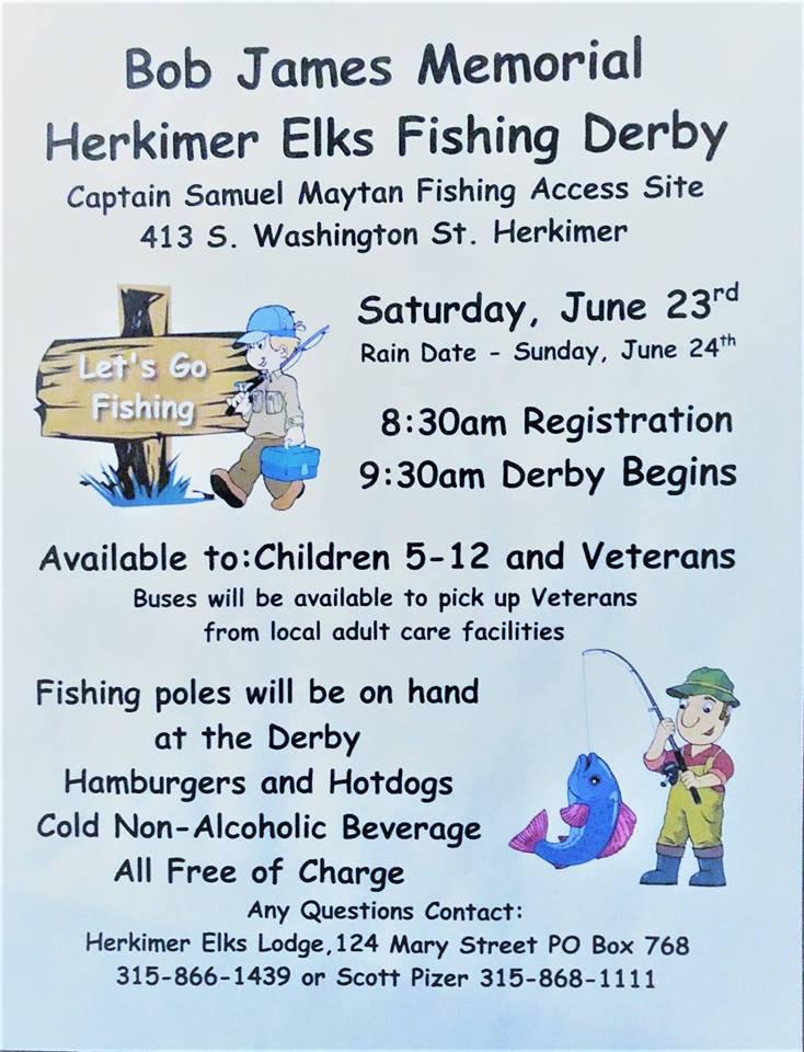Bob James Memorial Herkimer Elks Fishing Derby @ | | |