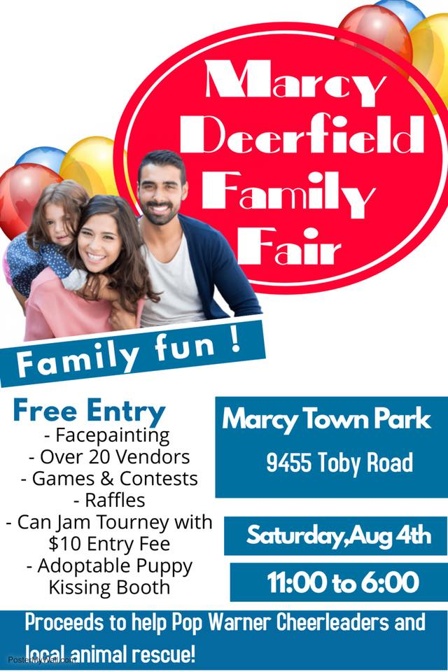Marcy/Deerfield Family Fair, Saturday, August 4th @  |  |  |
