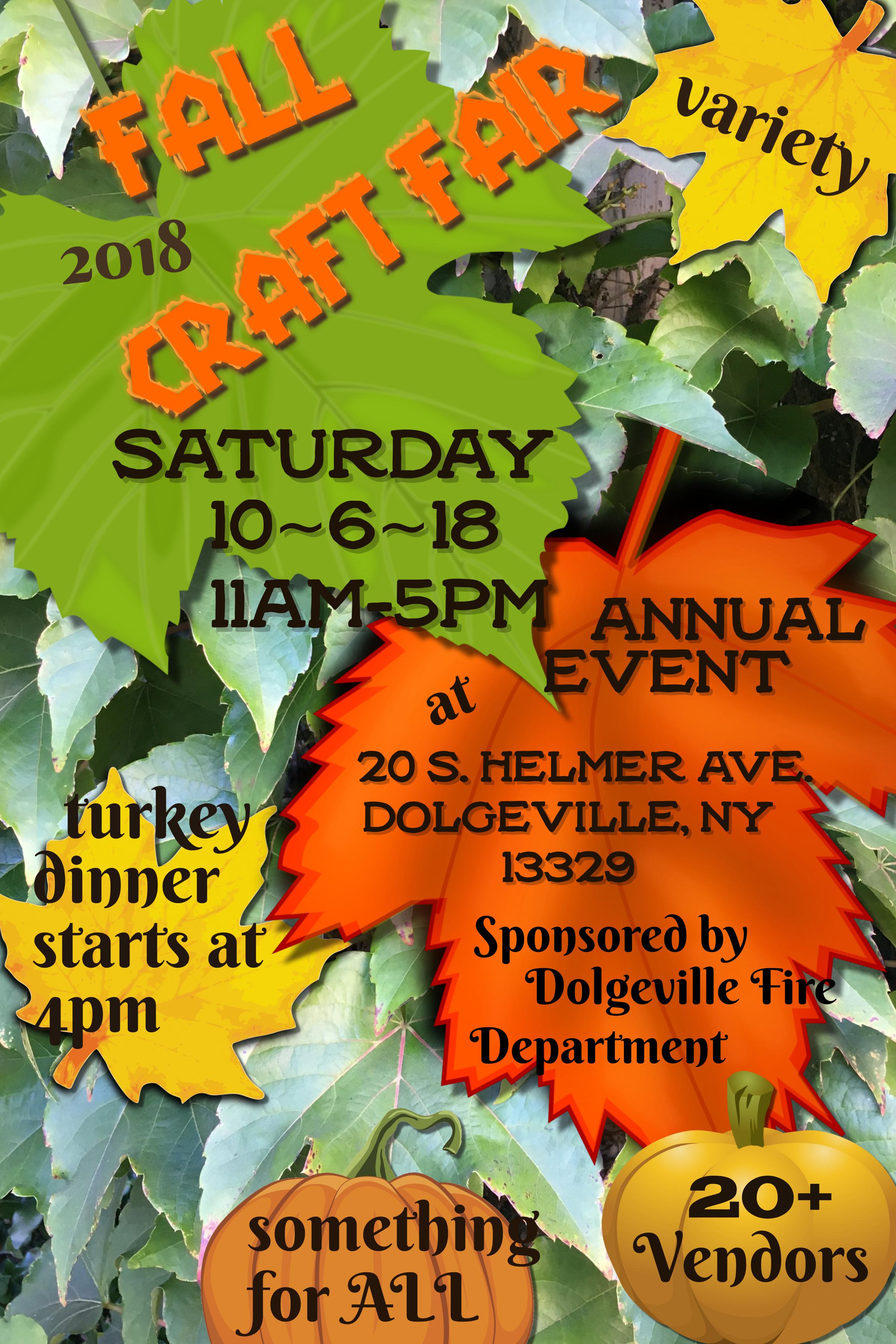 Annual Craft Fair and Turkey Dinner @  |  |  |