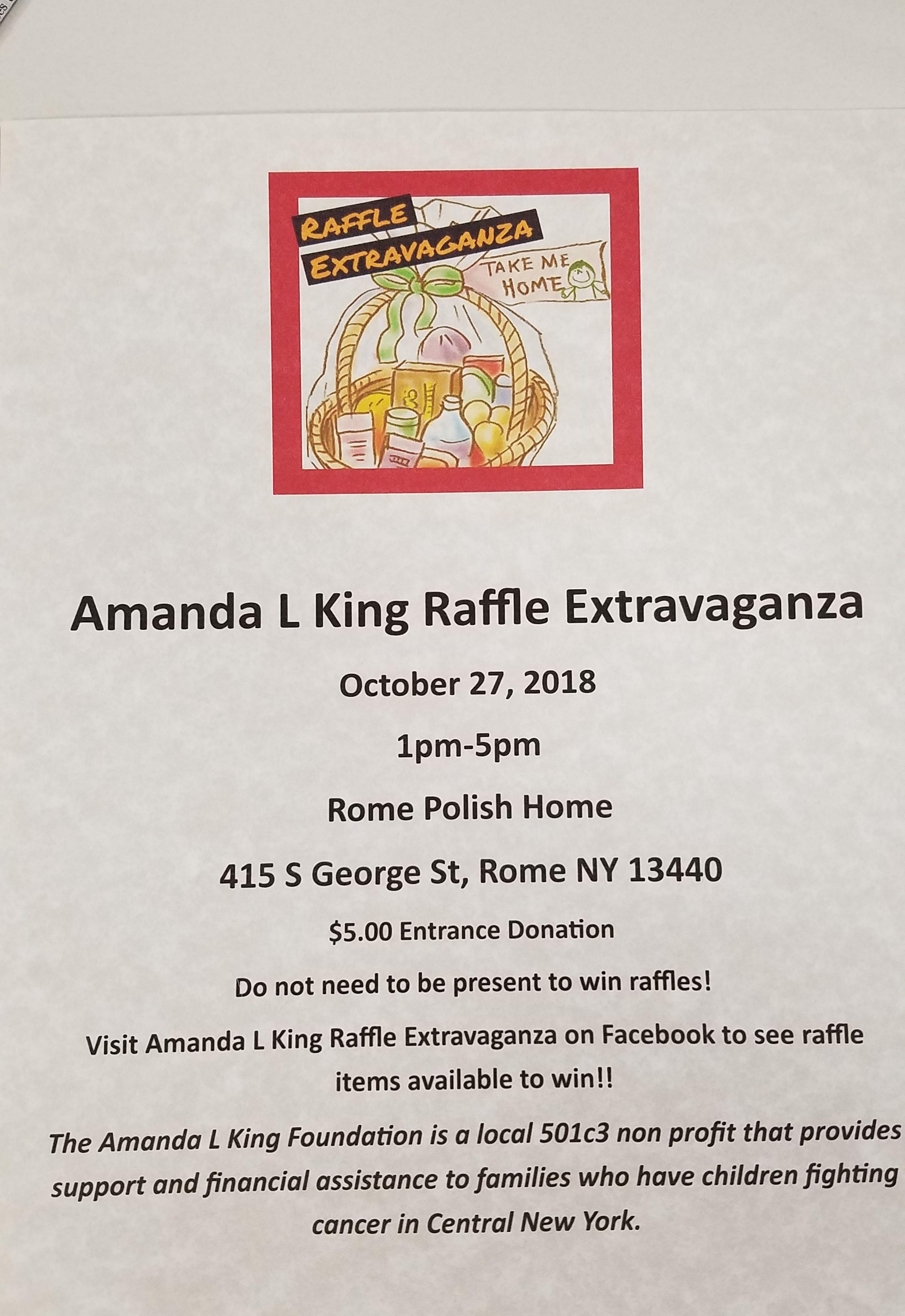 Amanda L. King Raffle Extravaganza @  |  |  |