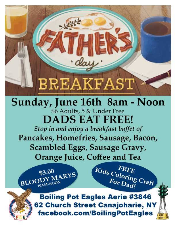 Father's Day Breakfast Buffet @  |  |  |
