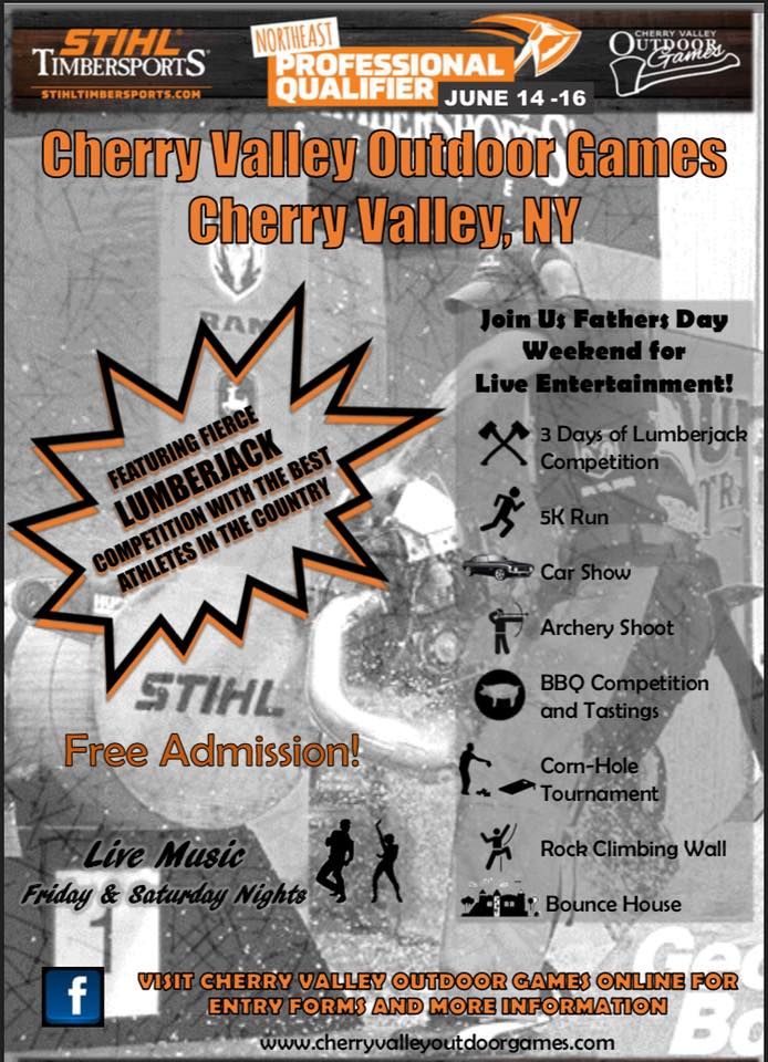 3rd Annual Cherry Valley Outdoor Games @  |  |  |
