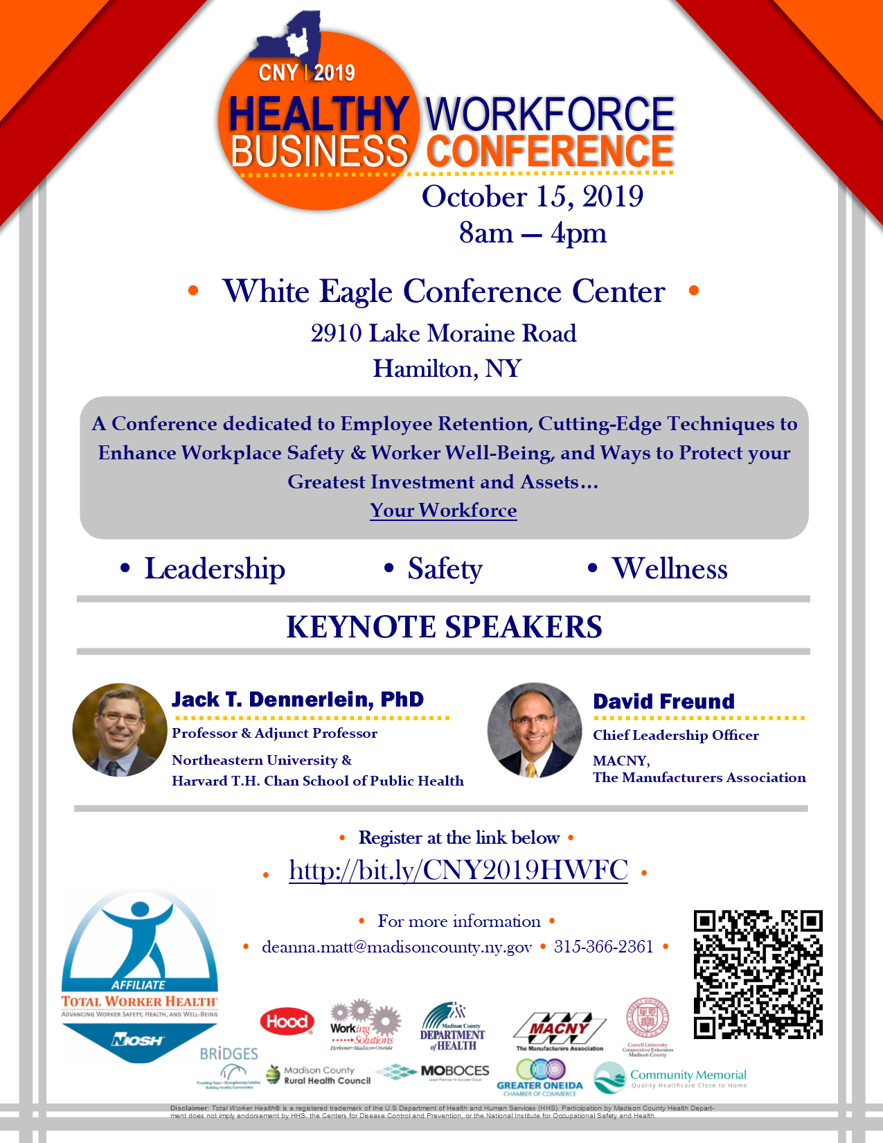 CNY Healthy Workforce Business Conference @  |  |  |