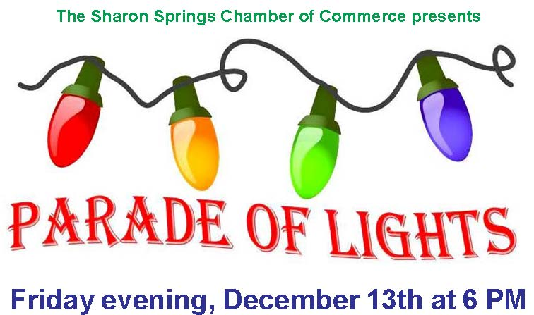 Sharon Springs Parade Of Lights @  |  |  |