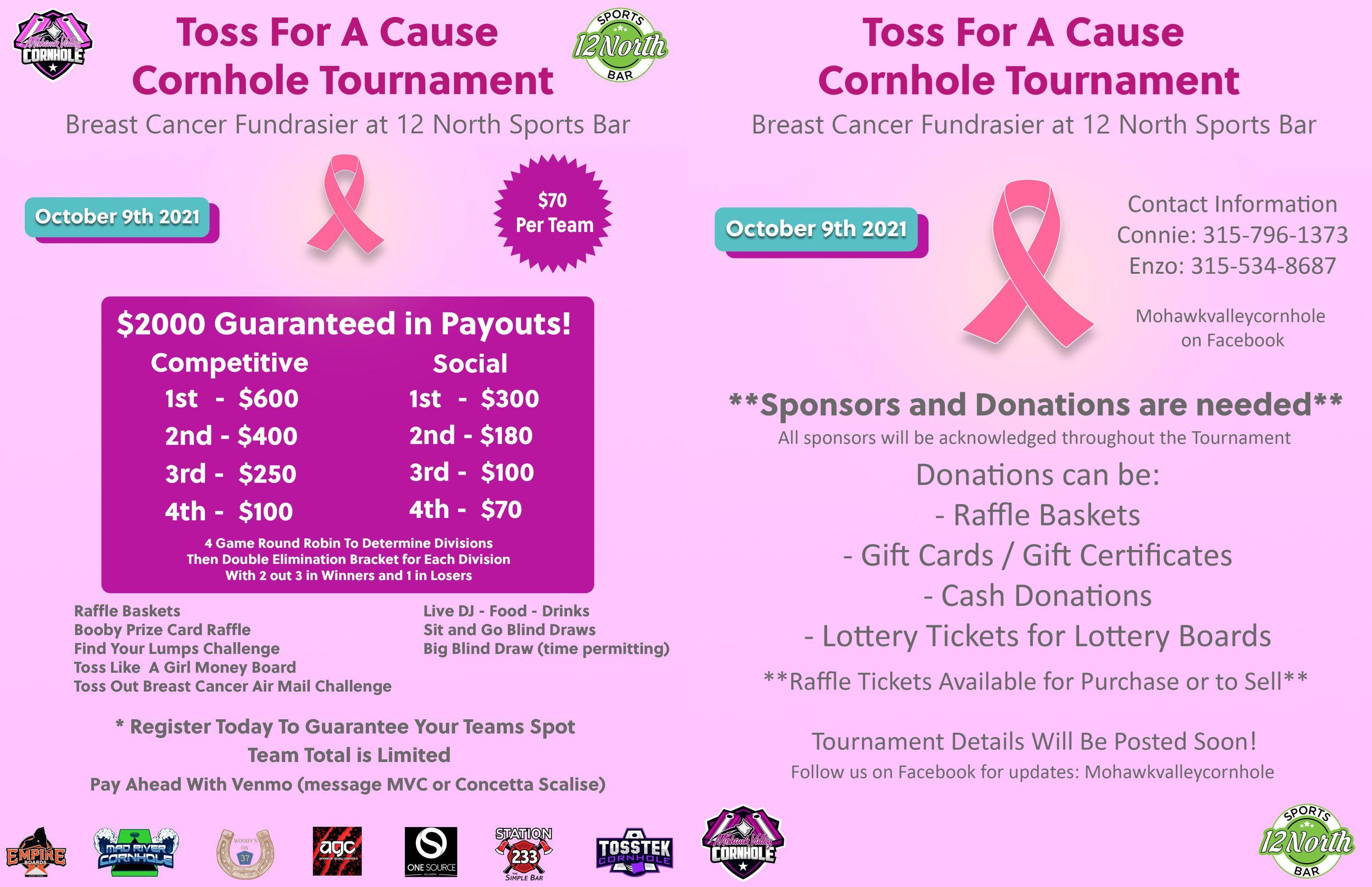 Breast Cancer Cornhole Tournament @ | | |