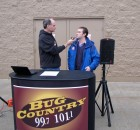 Bug Country's Dave Silvers interviews WKTV's Dave Dellecese, Stuff the Bus, Herkimer WalMart, 11-26-11