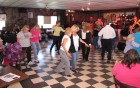 Line dancing at the HALO Hoedown, 9-16-12