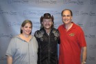 Bug Country's Dave Silvers & his wife Sandy with Travis Tritt backstage, Turning Stone Showroom, 10-26-11