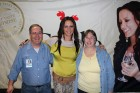 Bug Country tickets winners Mike & Linda Rundle backstage w/Sara Evans, Albany, 1-26-12