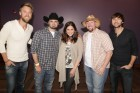 Our sister station KISS-FM's morning guy Big Poppa (2nd from right) backstage with Lady Antebellum at CMAC, Canadaigua, 6-3-12