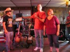 Bug Country's Dave Silvers & his wife Sandy thank the Fulton Chain Gang, HALO Hoedown, 9-16-12