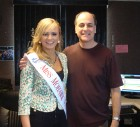 Miss Mohawk Valley Amanda Abdajic visits Dave Silvers in the Bug Country studios 3-18-13