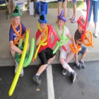 Great balloon guy! Large & creative. Fulton County Federal Credit Union 40th Annversary, Cash Cube, 6-22-12