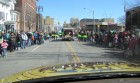 The view from the Bug van, St Patrick's Day Parade Utica 3-9-13
