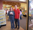 Jennifer Fuller surprised she won $111, Price Chopper Johnstown Grand Re-opening, 11-11-12