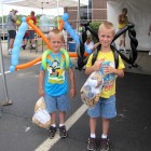 GREAT balloon guy! Large butterfly & spider for these brothers at Fulton County Federal Credit Union 40th Annversary, 6-22-12