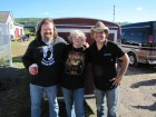 Sean Patrick McGraw & his band mate with Bug Country listener Arline from Dolgeville, HALO Hoedown, 9-16-12