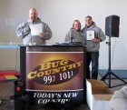 Bug Country General Manager Grant Roser accepts plaque, Walk a Mile in My Shoes, Utica 2-9-13