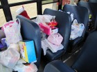 Some of the day's stash, Stuff the Bus, Herkimer WalMart, 11-26-11