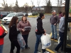 Lined up to Stuff the Bus, Toys R Us New Hartford, 12-8-12