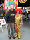 Clown DJ and a real clown at Alpine Rehab & Nursing Open House, 9-29-12
