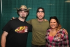 Bug Country rep Joe Hickel backstage with his friend Delicia and Dierks Bentley, Syracuse, 4-18-13