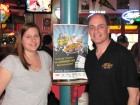 Entertainment Express Grand Prize Winner Jamie Walsh of Fonda with Dave Silvers, 5-11-13