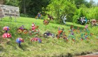 The Tepee, Cherry Valley has many wind spinners! 5-20-12