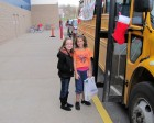 2 young givers! Stuff the Bus, Herkimer WalMart, 11-26-11