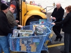 She bought THREE shopping carts FULL of toys for Stuff the Bus, Toys R Us New Hartford, 12-8-12
