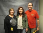Bug Country's Dave Silvers & his wife Sandy backstage with Jo Dee Messina, Turning Stone Showroom, 10-3-12