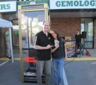 Marina Latella won $132 in the Cash Cube at Lennon's Jewelers! With Bug Country's Dave Silvers