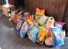 Loads of cat food & litter donated, 5th Annual HALO Chinese Auction, Herkimer, 3-10-13