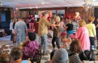 The crowd loves the Fulton Chain Gang, HALO Hoedown, 9-16-12