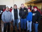 Grant Roser, Utica Mayor Rob Palmieri, Oneida Cty Sheriff Rob Maciol, his son, Ann Rushlo, Walk a Mile in My Shoes, Utica 2-9-13