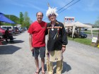Dave Silvers with one of the guests at Native American Artisan Day at The Tepee, Cherry Valley, 5-20-12
