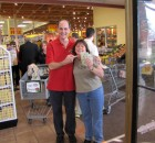 Kim La Mere of Johnstown very happy she won $63 AFTER shopping at Price Chopper Johnstown Grand Re-opening, 11-11-12