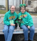 Dave Silvers & his wife Sandy with their dog Jack, St. Patrick's Day Parade Utica, 3-17-12