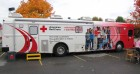 HUGE Red Cross Bloodmobile, Aubuchon Hardware, 10-20-12